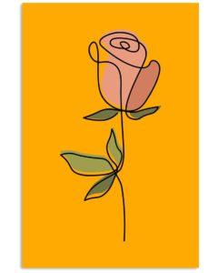 Flower Red Rose Vertical Poster