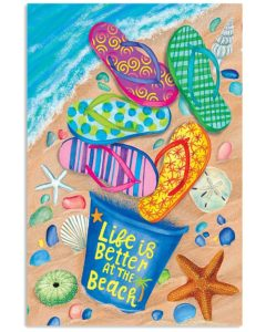 Life Is Better At The Beach Face Vertical Poster
