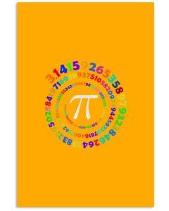 Pi Spiral Vertical Poster