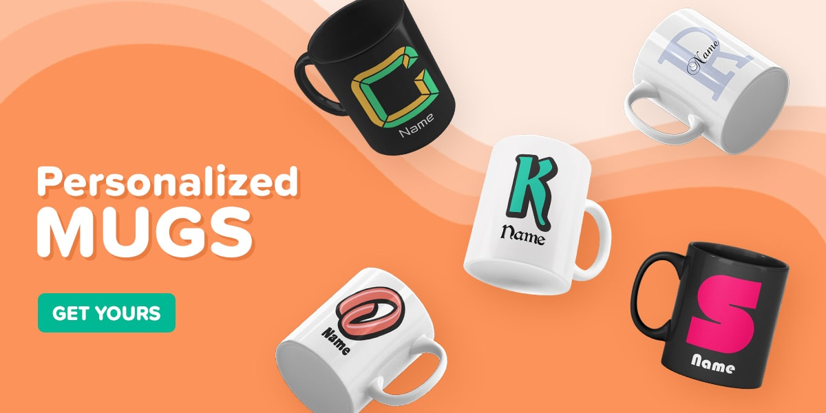 Personalized Letter Mugs